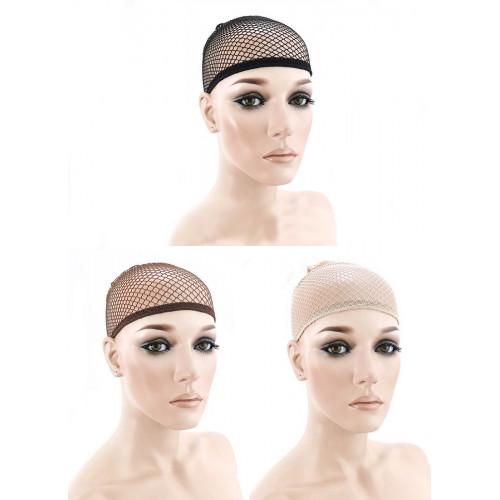 Fishnet Open Wig Caps, Set of 3