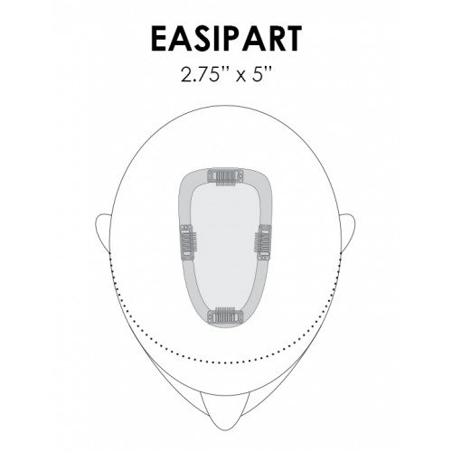 "easiPart Human Hair 8"" by Jon Renau"