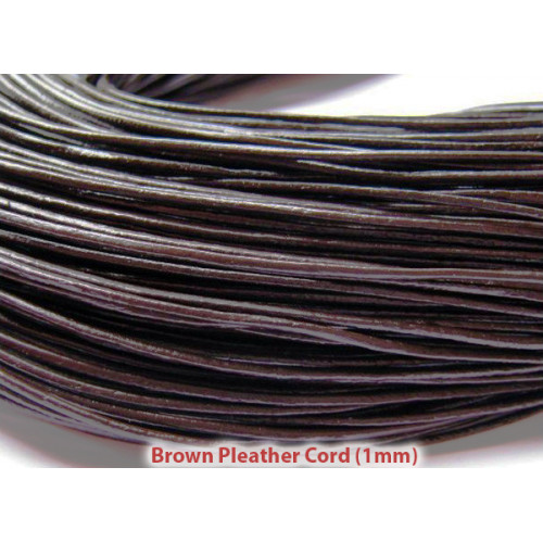 Cord Material: 1mm dark brown pleather