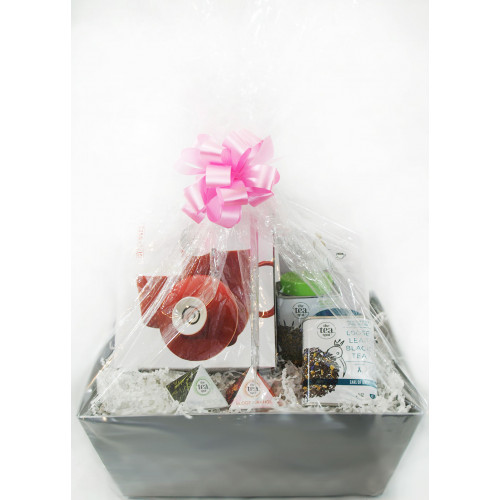 Tea Gift Basket - Steeping Mug & Tea